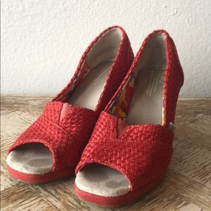 TOMS Wedge Platform Women's Shoe Sz 7.5